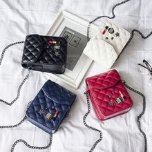 AOYE crossbody bag casual flap pu solid soft zipper cover versatile single diamond lattice famous designer min bags new arrived