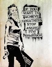 "Banksy iti "" Permission - Pray"" Street Art Fan Artwork Collection silk canvas Fabric cloth Wall Poster(China)"