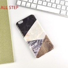 "ALL STEP Fashion Splice Pattern Marble Gel TPU Case For IPhone 6 6S 4.7"" 6Plus 6S Plus5.5"" Case Geometric Protect Cover Coque(China)"
