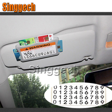 Car Styling Carring Bag For Volvo XC90 XC60 S90 S60 V70 S40 V40 V70 V60 Fiat 500 Punto with car stickers Temporary Parking Card(China)