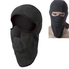Winter Thermal Hood Fleece Balaclava Black Full Neck Face Mask Cap Cover Camping Hiking Skiing Riding Cycling Motorcycle Caps