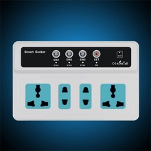 Switch 3 Sockets Remote Control Wireless Mobile Phone GSM SIM Smart Socket Switch(China)