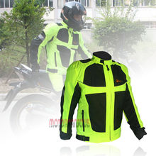 Pilot Mens Neon Green Mesh Armored Motorcycle Jacket Urban Motorcycle Touring Jacket Reflective Safety S M L XL XXL(China)