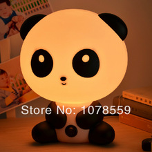 Unusual oriental Intelligent design 1pcs 220V E14 ABS material +electronic component Scrub lampshade KungFu Panda baby desk lamp(China)