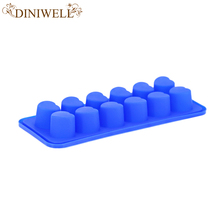 Diamond Ice And Chocalate Multi Cavity Mold 12 Pcs Mini Heart Shaped Silicone Ice Mold Made Ice Tools  Cake Decoration Mould