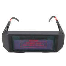 NEW Solar Powered Auto Darkening Welding Glasses Mask Goggles Workplace Safety Eye Protection(China)