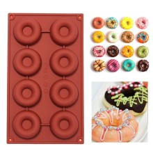 1PCS 8/18-Cavity Diy Donut Shape Round Muffin Sweet Candy Jelly Fondant Cake Chocolate Mold Silicone Tool Baking Pan