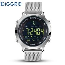 Diggro EX18 Smart Watch 5ATM 50M Professional Waterproof Swimming EX18 Sport Wristwatch Bluetooth 4.0 Pedometer For iOS Android(China)
