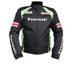 Kawasaki motorcycle jackets summer winter men's motorbike racing jackets protection motocross riding jacket with liner and 5pads