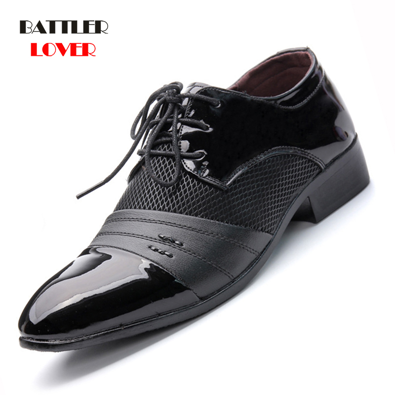 Men Dress Shoes Plus Size 38-48 Men Business Flat Shoes Black Brown Breathable Low Top Mens Formal Office Working Shoes Hombre