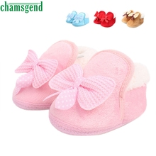 CHAMSGEND Best Seller  Infant Baby shoes Walking Toddler Girls Boys Crib Shoes Soft Boots S35