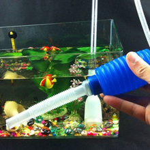 Aquarium Siphon Gravel Cleaner Clean Simple Fish Tank Vacuum Water Change Pump Useful(China)