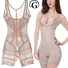 PRAYGER Lace Women Butt Lifter Sculpting Shapewear Full Body Control Corset Slimming Abdomen Lift Bras Shaper Charcoal Underwear(China)