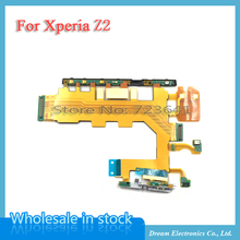 MXHOBIC 5pcs/lot Volume Power Button & Microphone Flex for Sony Xperia Z2 D6503 D6502 D6543 Motherboard Flex Cable(China)