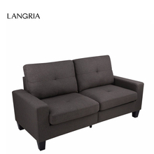 LANGRIA 71-Inch Linen Modern Fabric US LOVESEAT 3 Sofa Couch Set Living Room Furniture With Liln-Dried Solid Wood Frame