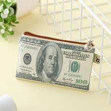 2016 New creative novel Women paper money Wallet men Canvas cute Coin Purse fashion mini Organizer Bag zipper kids Card Holder(China)