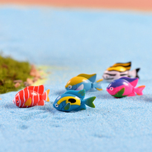 5Pcs Colorful Tropical Sea Fish DIY Resin Fairy Garden Craft Decoration Figurines Miniature Micro Gnome Terrarium Gift