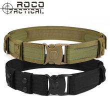 "Mens Heavy Duty Tactical Belt Swat 2"" Web Duty Belt Military Trousers Belt Paintball Airsoft Utility Belt Cordura Nylon 145cm"