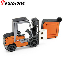 POWERONE Forklift truck model USB Flash Drive creative pen drive TOYOTA LOGO car memory stick pendrive 4gb 8gb 16gb 32gb gift
