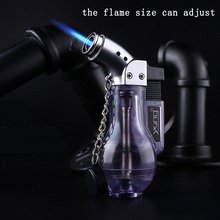 Windproof Refillable Lighter Butane Gas Jet Flame Torch Welding Camping Cigar torch Cigarette Accessories NO GAS Gadgets for Men