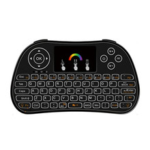 i86 Backlight Air Mouse Colorful Remote Control Wireless Mini Keyboard for PC Android TV Box Portable mini keyboard keypad i86