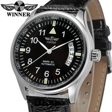 WRG8024M3S2 Winner new Automatic men black color dress watch factory company black leather strap shipping free with gift box