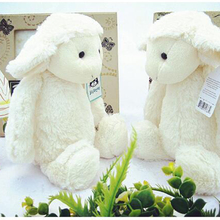 2016 30cm 40cm New White Lamb Child plush Toy Doll Baby Filled Cute In Sheep  Appease Creative Birthday Gift Free Door x298