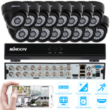 KKmoon 16PCS IR Night Vision 800TVL Indoor Security CCTV Camera System 16 Channel 960H/D1 CCTV DVR Video Surveillance Kit