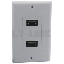 Dual ports HDMI wall plate with female to female connector