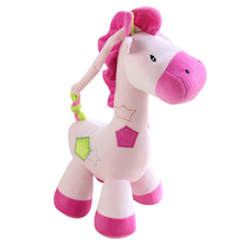 Baby Music Plush Doll Cute Animals Appease Toys Horse Small Stuffed Oyuncaklar Little Twin Stars Peluche Kawaii Kids Toys 70G578(China)