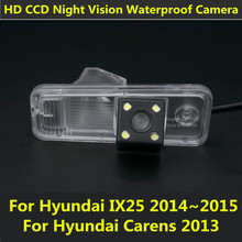 For Hyundai IX25 2014 2015 Carens 2013 Car CCD 4LEDS Night Vision Backup Reverse Rear View Reversing Camera Waterproof Parking