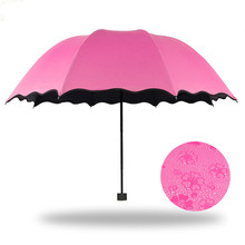 Creative flowering water Apollo princess lace umbrella of dual-use ultra-light vinyl umbrellas UV sunscreen sun umbrella Ms.