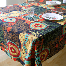 1pc retro Northern Europe National Wind Design House Restaurant Cotton Linen Tablecloth Art Home Decor Table Cloth