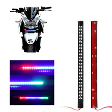 9'' 48LEDs Motorcycle Decorative Flexible LED Strip 3528 SMD Red Blue Green Color Change Tail Brake Stop Lamp Flashing Light(China)