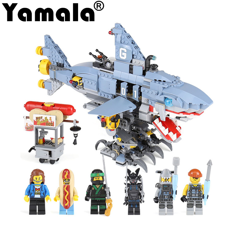 [Yamala]2018 New Ninjago Movie Compatible With Legoing Ninjagos  929Pcs Garmadon Set Big Shark Building Blocks Toys For Children<br>