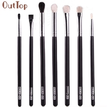 Best Deal OutTop Good Quality Makeup brushes Blend Shadow Angled Eyeliner Smoked Bloom Eye Brushes Set Gift(China)