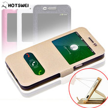 For Samsung Galaxy J3 (6) 2016 Case for SAMSUNG J3 J320 J320F J3109 NEW Fashion Window View Stand Phone Cases Leather Flip Cover