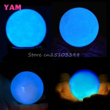 Delicate Glow In Dark Quartz Crystal Sphere Ball Luminous 3.5cm 60g + Base Blue #G205M# Best Quality