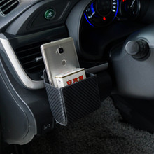 1pcs car carbon fiber cloth air outlet mobile phone bag for Dodge Caliber Challenger Charger Durango Nitro Any Car Stickers(China)