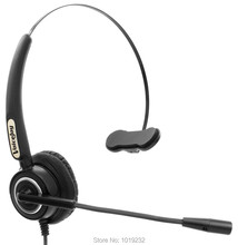 RJ9 plug headset Noise canceling Telephone headphones call center phone headset office headphones for Nortel Avaya 24XX 4610 etc(China)