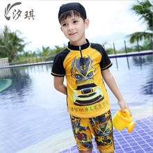 xiqi baby boy rash guard bumblebee swimsuit kids boy clothes summer2017 uv protect swimwear board kids clothes boys swimwear
