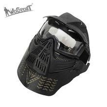 WoSporT Military Full Face Paintball Mask Army Tactical War Game Protection Face Masks Goggles Paintball Accessories