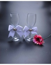 Europe and the United States simple goblet Western - style wedding champagne cup high - pin wine glass
