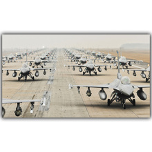 General Dynamics F-16 Fighting Falcon Jets Fighter Picture Home Decoration Picture Wall Art Poster Silk Poster Printing YL205(China)