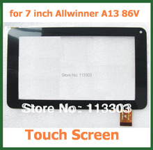 "7"" Capacitive Touch Screen with Glass Replacement Screen for 7 inch Allwinner A13 86V Y7Y007 GT70PW86V CZY6964A01-fpc CZY6347801(China)"
