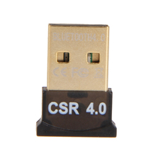 Mini USB Bluetooth Adapter V 4.0 Dual Mode Wireless Dongle CSR 4.0  20M 3Mbps device For Windows 10 8 Win 7 Vista XP 32/64 black