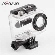 SOONSUN GoPro Hero 2 Waterproof Housing Case 35m Underwater Diving Waterproof Shell Cover Housing for Gopro Hero 2 Camera(China)