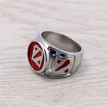 J Store Souvenir Dota 2 Logo Silver Rings New Arrival For Dota2 Game Fans Jewelry Size 8 Zinc Alloy Ring Jewelry Accessories