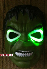 New Cosplay Delicated Glowing Hulk  Mask Festival Party Halloween Masquerade Mask --- Loveful