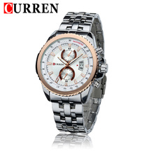 Curren 8082 Men Watches Fashion Dress Mens Watch Stainless Steel Wristwatches Business Chronometer Male Clocks Auto Date Relojes(China)